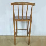 Gepolsterter Metallkostenzähler-Höhen-Stab-Schemel-Stuhl mit Rückseite