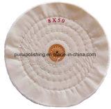Roue de polissage de polissage de mousseline blanche pour Jewelary