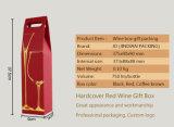 La force de vin rouge personnalisé du papier imprimé Boîte en carton ondulé avec fenêtre