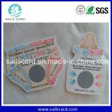 El PVC Cr80 o Cr40 o el papel pagó por adelantado la tarjeta del rasguño de la recarga