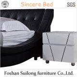 Base moderna della camera da letto della base del cuoio di stile