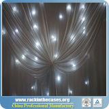 LEDの背景幕DJはクリスマスのための結婚式の装飾の白色光のカーテンをおおう