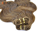 Extensões indianas do cabelo humano do Virgin da cor 100% de Brown