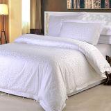 Оптовые белые постельные принадлежности роскошной гостиницы постельного белья жаккарда гостиницы хлопка