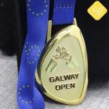Beste Großhandelsqualitätsspricht kundenspezifische Decklack-Metallandenken Goldmedaille zu