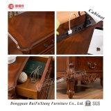 Ruifuxiang couleur chêne sculpté à la main la table de chevet en bois (C209)