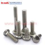 ISO8677, Is08678, DIN603 의 버섯 맨 위 정연한 목 놀이쇠, 포가 놀이쇠