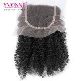 """Yvonne vierge de l'homme Haut de la Dentelle 4""""x 4"""", fermeture Afro Kinky curl"""