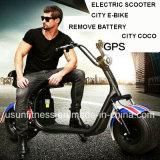 Der zwei Rad-fette Gummireifen-entfernen elektrisches Roller E-Fahrrad mit Batterie