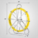 duto Running Rodder Fishtape Rodder 130m de Rod do cabo de fio da fibra de vidro da fita dos peixes de 6mm