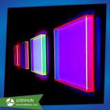 Visualización de acrílico encendida colorida del rectángulo de almacenaje del LED