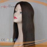 Peruca superior de seda da cor escura de cabelo humano (PPG-l-0431)