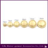 Venda por grosso de acessórios de vestuário Rodada Gold Botão de metal para costura Jeans