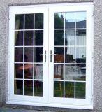 Puerta francesa de aluminio asada a la parilla del diseño para la casa