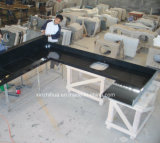 Zwart Countertop van de Keuken van het Graniet Plak Gebouwd Kwarts Worktop