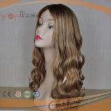 Parrucca ebrea superiore di seta sradicante scura dei capelli umani (PPG-l-01381)