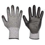 Облегченные перчатки покрынные PU отрезока 5 безопасности 4543