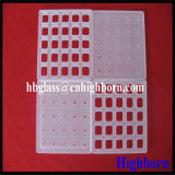 Strato di vetro di quarzo fuso di rettangolo di frantumazione di resistenza termica