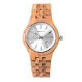 Reloj de madera del reloj de la venta al por mayor de la manera de ODM/OEM del Mens de madera del cuarzo