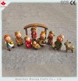 Vastgestelde Cijfers van de Geboorte van Christus van Kerstmis van de Standbeelden van de Hars van de douane de Godsdienstige
