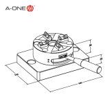 Klem van de Lijst van Erowa de Hand Snelle voor CNC die, EDM, Wireedm (3A-100009) machinaal bewerken