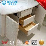 現代陶磁器の流しの固体木の浴室用キャビネット(BY-X7101)