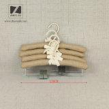 Ganchos acolchoados cetim de fornecimento do vestuário para calças e saia