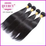 高品質および熱い販売の絹の直毛のWeft毛のインド人の毛