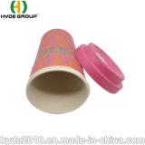 400ml componible Copa de fibra de bambú con tapa de fibra de bambú biodegradable