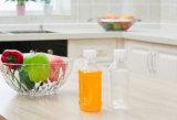 Botellas de empaquetado de consumición del zumo de fruta del agua mineral de la botella del jugo plástico de la bebida del claro de la dimensión de una variable redonda
