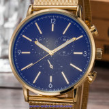 Logotipo personalizado a los hombres de cuarzo cristal Reloj de pulsera suizo para el hombre (WY-17016B)