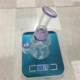 Tubo de agua de cristal de los tubos que fuman de la hierba de Weed con el tazón de fuente de cristal