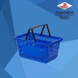 Panier en plastique neuf d'épicerie d'achats de traitement de supermarché en gros