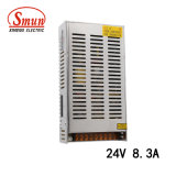 Smun S-201-24 201W 24VDC 8.3A AC-DCの切換えの電源
