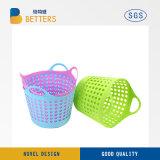 Cheap Wholesale ropa sucia de plástico flexible de color de almacenamiento de la canasta de lavandería