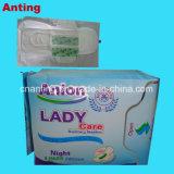 最もよい女性衛生パッドの価格、インドへの使い捨て可能な綿の陰イオンの生理用ナプキンの製造業者のエクスポート