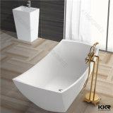 Piccola vasca di bagno di pietra composita di superficie solida moderna