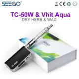Il disegno potente Seego Tc-50W+Aqua asciuga il kit della casella di Vape dell'erba