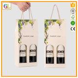 Мешок бутылки вина 2 бумажный упаковывая (OEM-GL008)