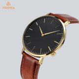 超薄いステンレス鋼の水晶腕時計の人の方法偶然の腕時計