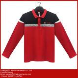 T-shirt relativos à promoção personalizados do polo do algodão poli da boa qualidade (P204)