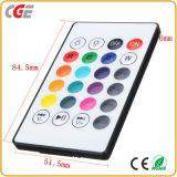 E27 intelligente RGB drahtlose Bluetooth Lautsprecher-Birnen-Musik-Birnen-Licht-Lampe mit 24 Schlüsseln Fernsteuerungs