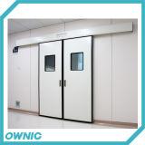 Puerta deslizante hermética doble de la puerta del hospital