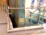 Het opgepoetste Traliewerk van het Dek van het Glas van het Balkon van het Roestvrij staal
