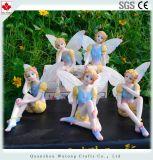 Estatuilla de hadas de la estatua de la flor miniatura de interior de la decoración