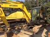 사용한 건축기계 유압 장비 유압 기계는 소형 크롤러 굴착기 6 톤 Hyundai R60-7 갱부를 추적했다