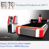 macchina del laser della fibra di CNC 1000W per il taglio del metallo Ss/CS (EETO-FLS3015)