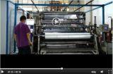 Uso da máquina e o plástico filme fundido