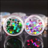 Пыль яркия блеска металла радуги круглая шелушится для искусствоа ногтя рождества