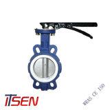 ASTM A126 Tipo Wafer de ferro fundido com a alavanca da válvula de borboleta Opreated